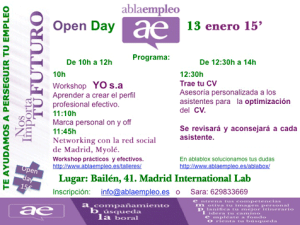 Evento Open Day 13 enero 2015