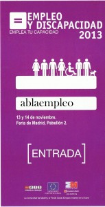 Feria Empleo y Discapacidad 13 NOV 2013