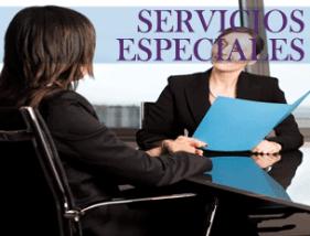 SERVICIOS ESPECIALES