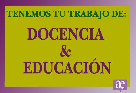 Trabajo docencia y educación