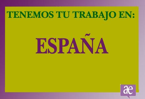 TRABAJO EN ESPAÑA