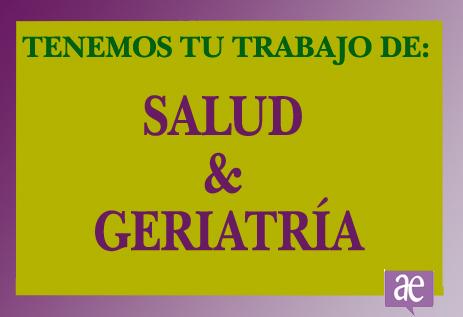 Trabajo salud/geriatría