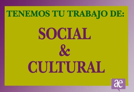 Trabajo social y cultural