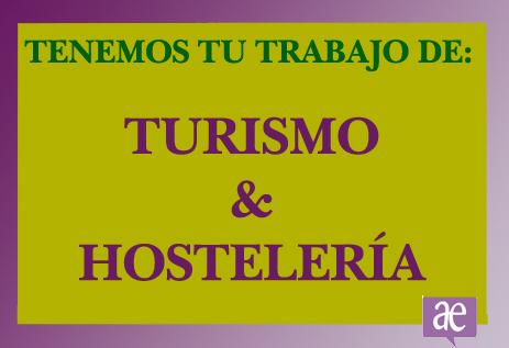 Trabajo turismo y hostelería