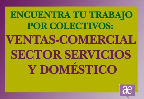 Trabajo ventas comercial sector servicios y doméstico